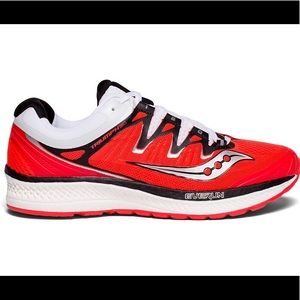 Saucony Everun Triumph 150 Red And White Sneakers